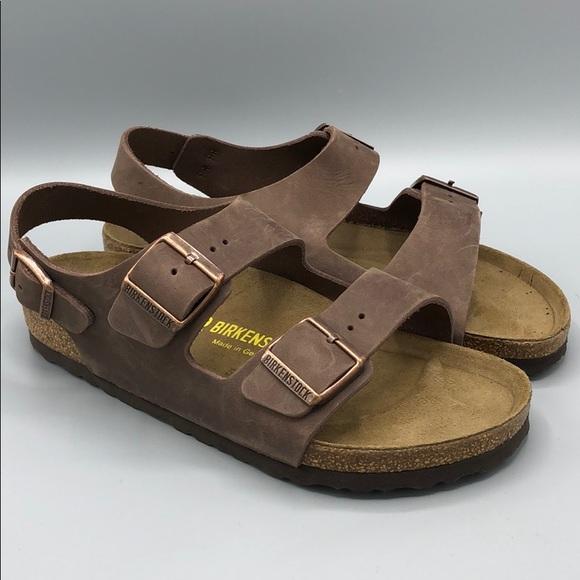 8a029ee11394 Birkenstock Shoes - Birkenstock Milano Sandal Birko-Flor Brown 39 8
